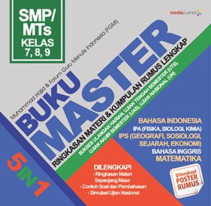 BUKU MASTER SMP/MTS: RINGKASAN MATERI & KUMPULAN RUMUS LENGKAP